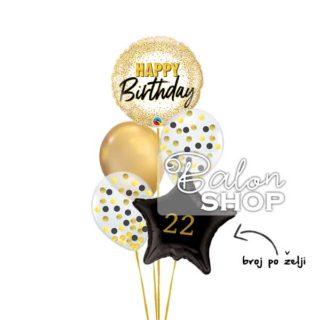 Buket balona Srećan rođendan