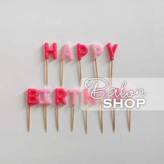 Happy Birthday roze rođendanske svećice