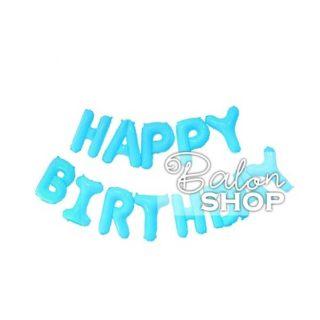 Baloni Happy Birthday slova plavo