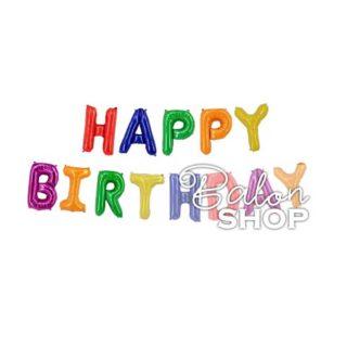 Baloni Happy Birthday slova šareno