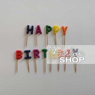 Happy Birthday šarene rođendanske svećice