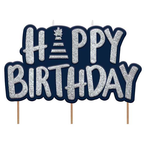 ukras za tortu happy birthday plavi