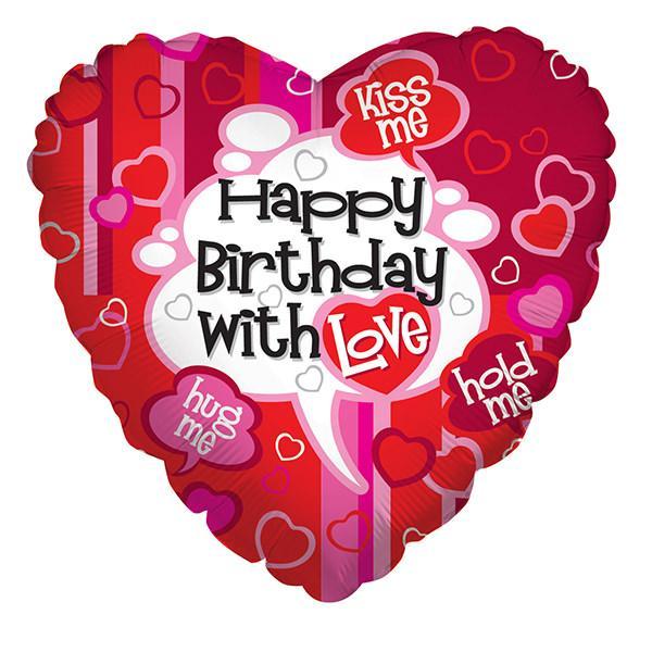 happy birthday with love folija balon
