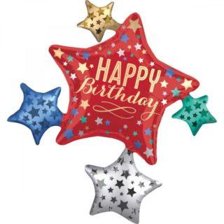 Happy Birthday veliki balon sa zvezdicama