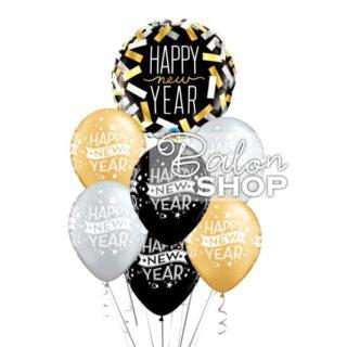 Happy New Year buket balona