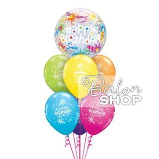Buket balona za rođendan sa svećicama