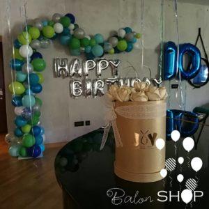 dekoracija rodjendana luk od balona