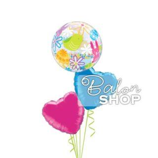 Helijumski baloni za Uskrs u buketu balona
