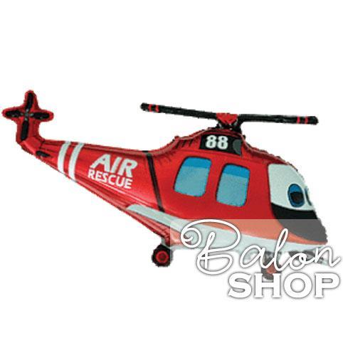 helikopter crveni balon folija