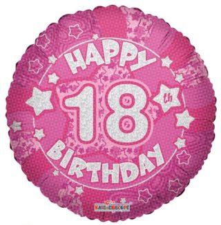 Srećan 18. rođendan roze balon