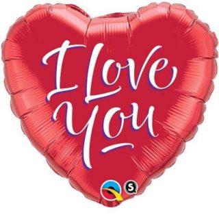 I Love You srce folija balon