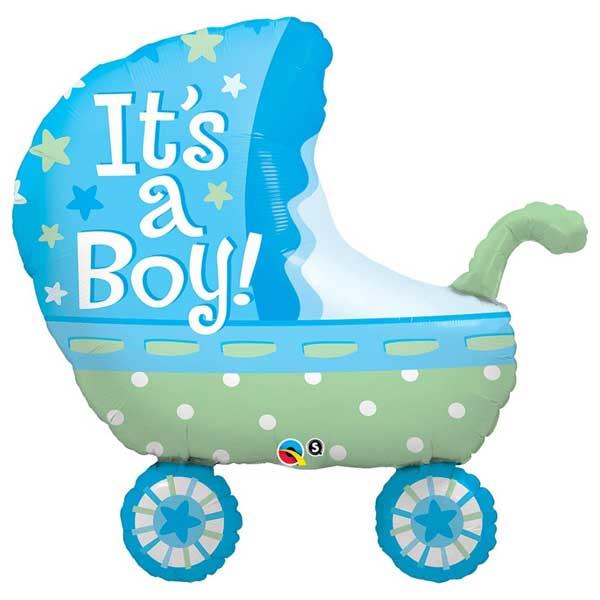 kolica plava za rodjenje balon