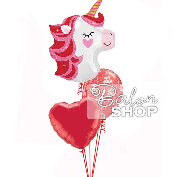jednorog srce rodjedanski buket balona