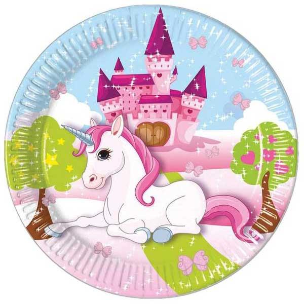 jednorog tanjiri dvorac priroda
