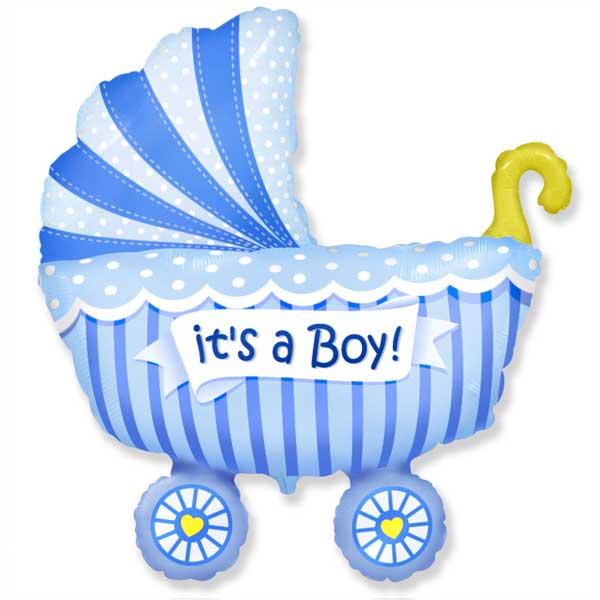kolica za bebu plava balon