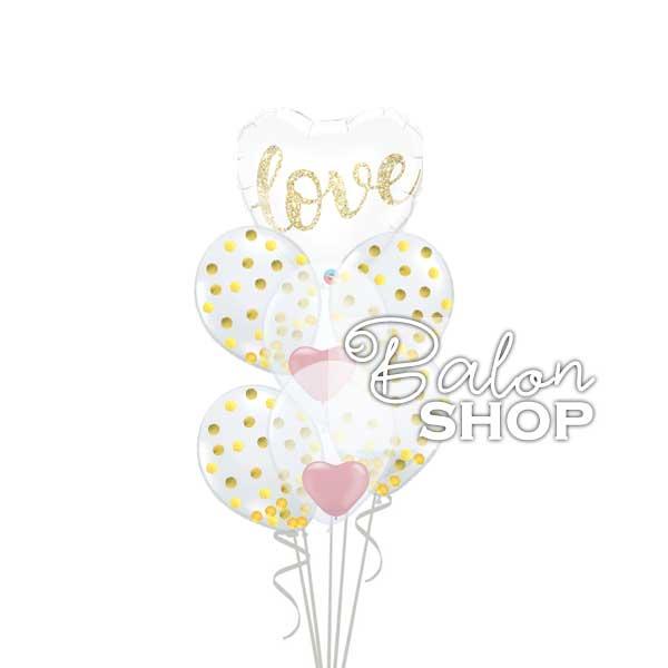 konfete love buket balona