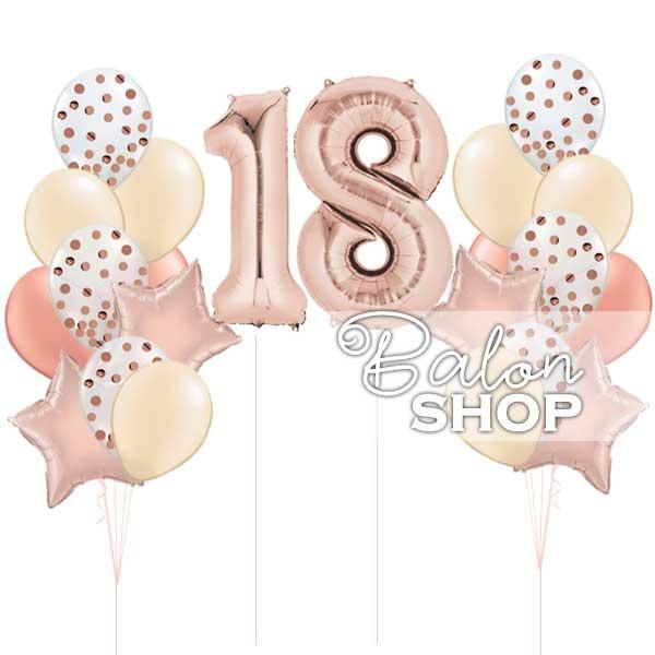 18 rodjendan krem roze set balona