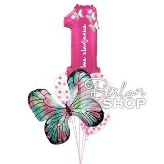 Prvi rođendan buket od balona za devojčicu