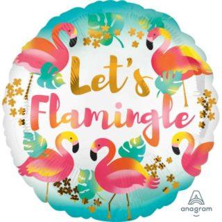 Let's Flamingle balon