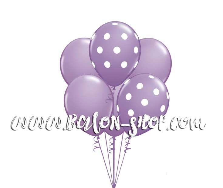 ljubicasti buket balona