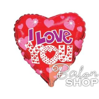 Crveno, ljubičasto, roze srce I Love You