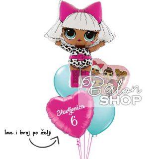LOL Surprise baloni za rođendan u buketu
