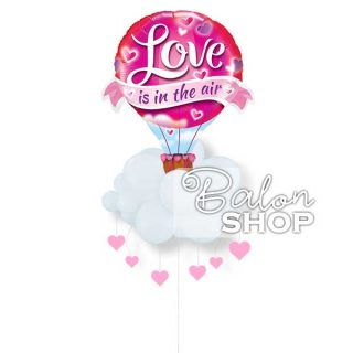 Love is in the air baloni sa helijumom u buketu