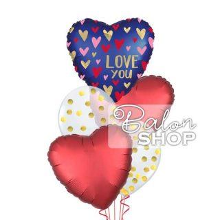 LOVE YOU buket balona sa konfetama