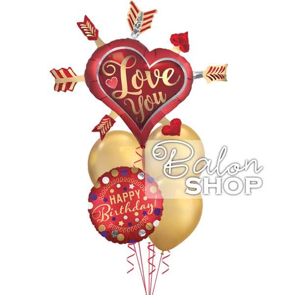 love you and happy birhday buket helijumskih balona