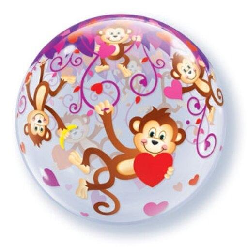 zaljubljeni majmuncici bubble balon