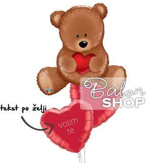 Baloni za zaljubljene Plišani meda