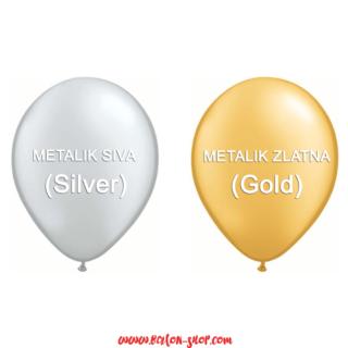 Okrugli baloni Metallic boje 28cm