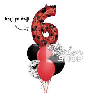 Miki Mouse buket balona sa brojem