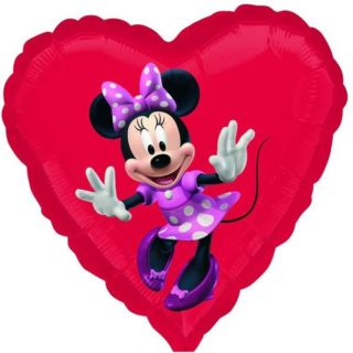Minnie Mouse srce folija balon