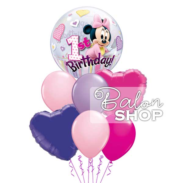 minnie prvi rodjendan buket balona