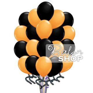 Veliki narandžasto crni buket balona
