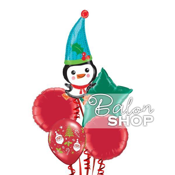 novogodisnji pingvin buket balona