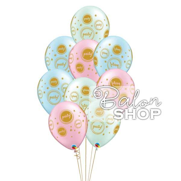 party baloni u pastelnim bojama