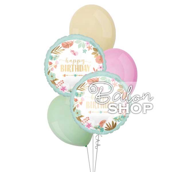 pastelni boho buket helijumskih balona