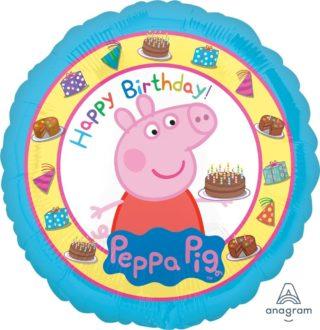 Pepa prase Happy Birthday balon