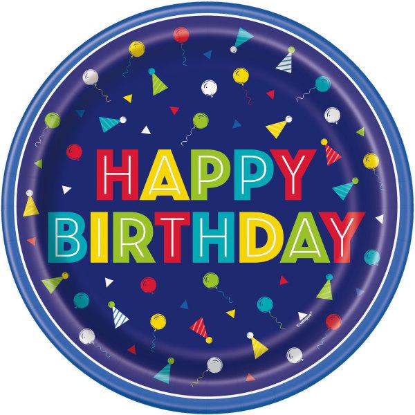 plavi happy birthday tanjirici