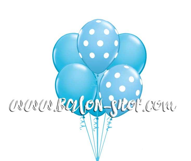 plavi balobi punjeni helijumom