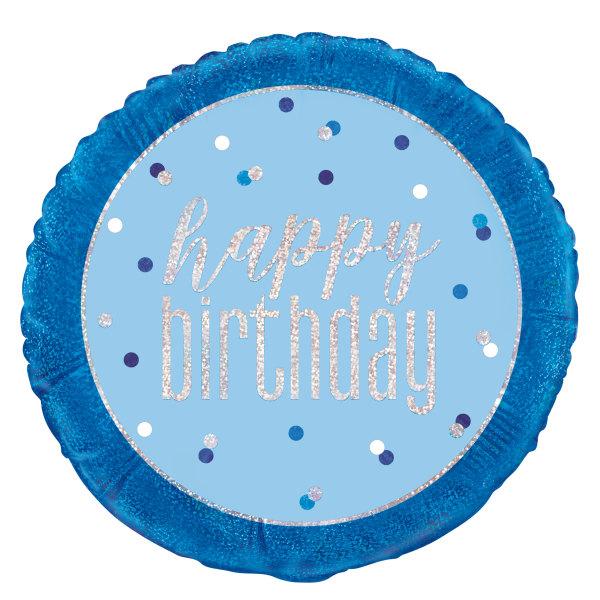 happy birhday plavi ballon