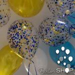 platno plave konfete