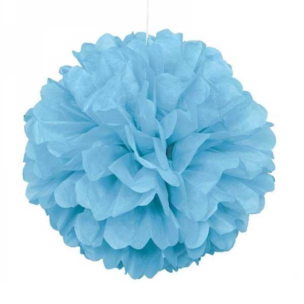 pom pom plava papirna lopta