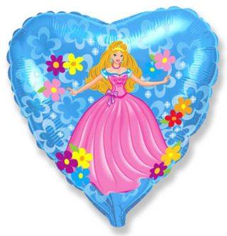 Princeza u plavom srcu balon