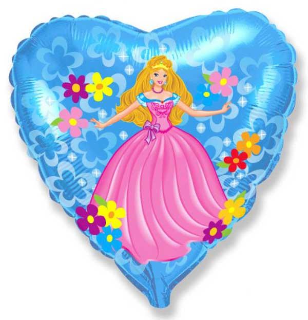 princeza cvece balon