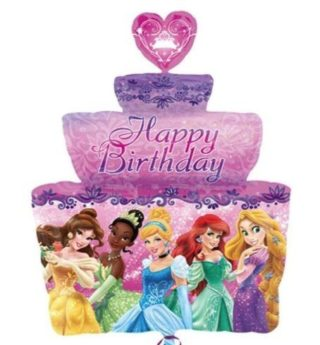 Happy Birthday torta Princeze balon