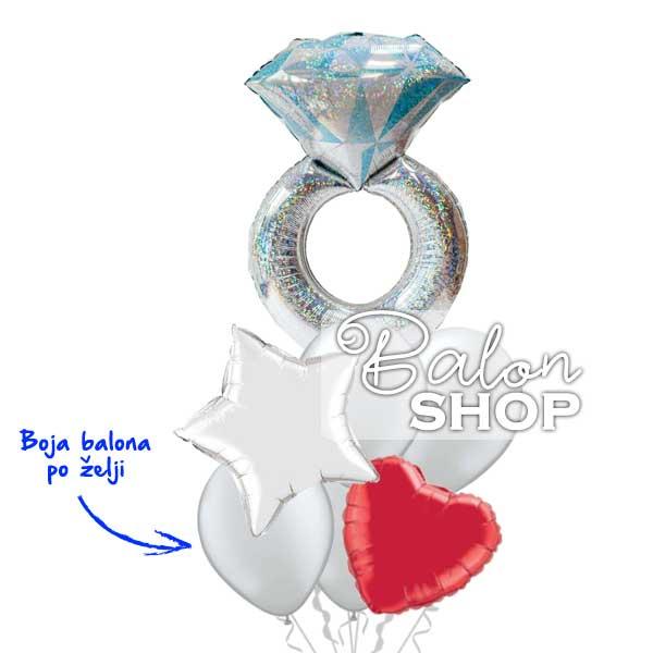 prsten zvezda buket