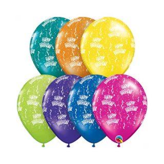 Rođendanski latex baloni sa konfetama